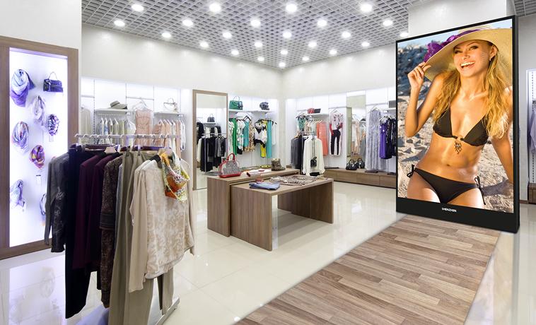 L' écran géant pour magasin SH 06 de la gamme SHENZHEN Multimédia 2016, a un design extra slim qui lui permet de s'intégrer avec harmonie dans vos espaces.