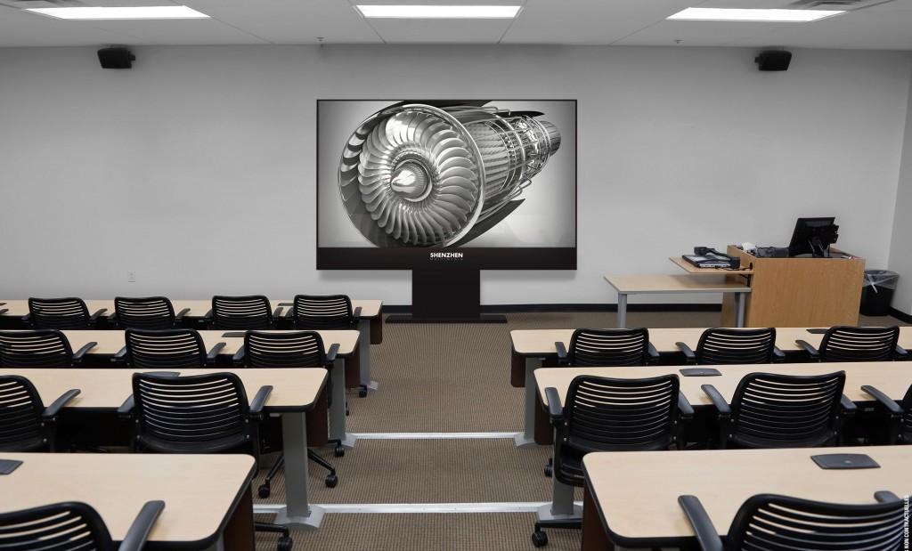 Ce moniteur LED professionnel peut s'adapter facilement à vos lieux de conférence. Secteur de l'immobilier écrans géants à LED et signalétique.