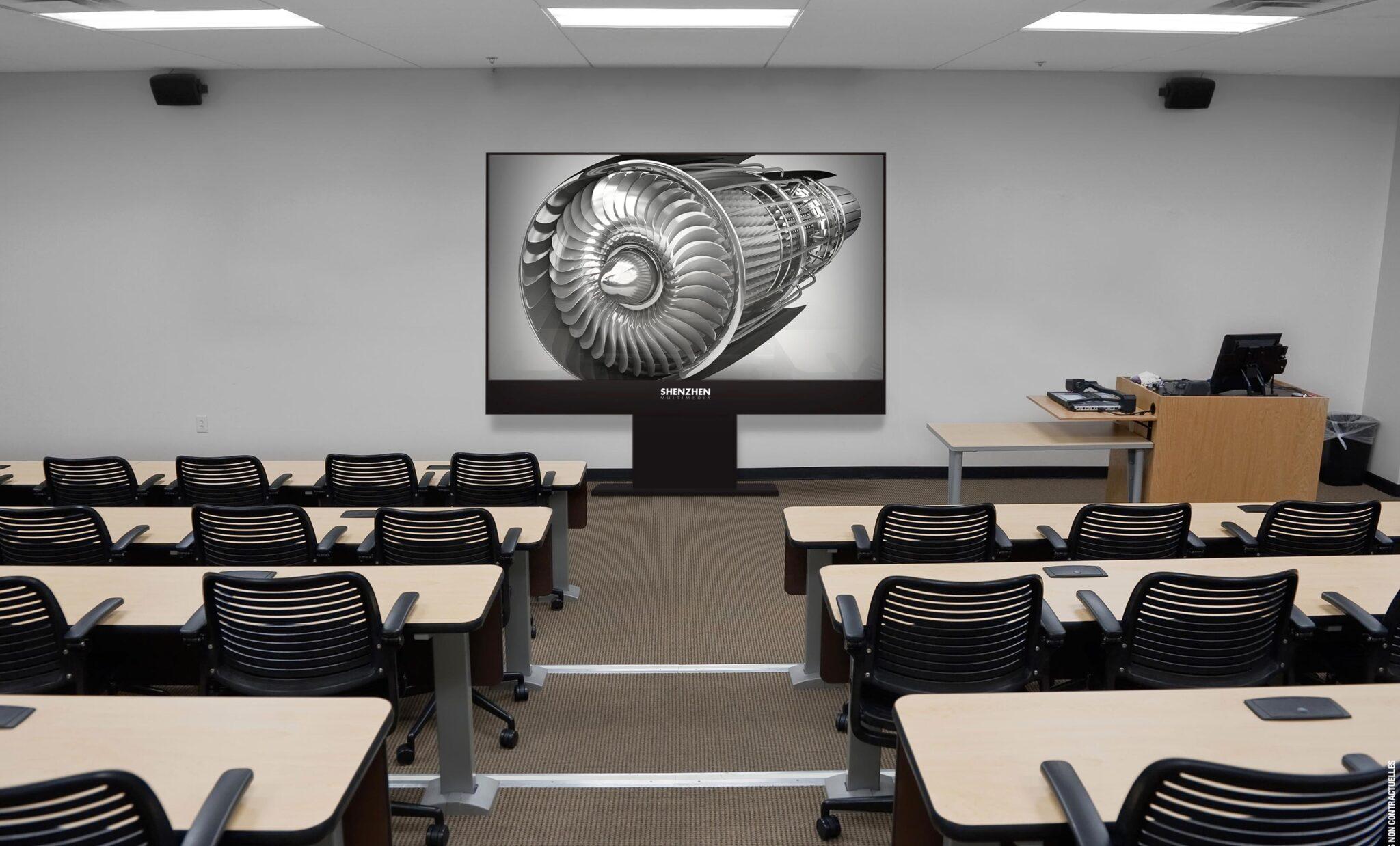Ce moniteur LED professionnel peut s'adapter facilement à vos lieux de conférence.
