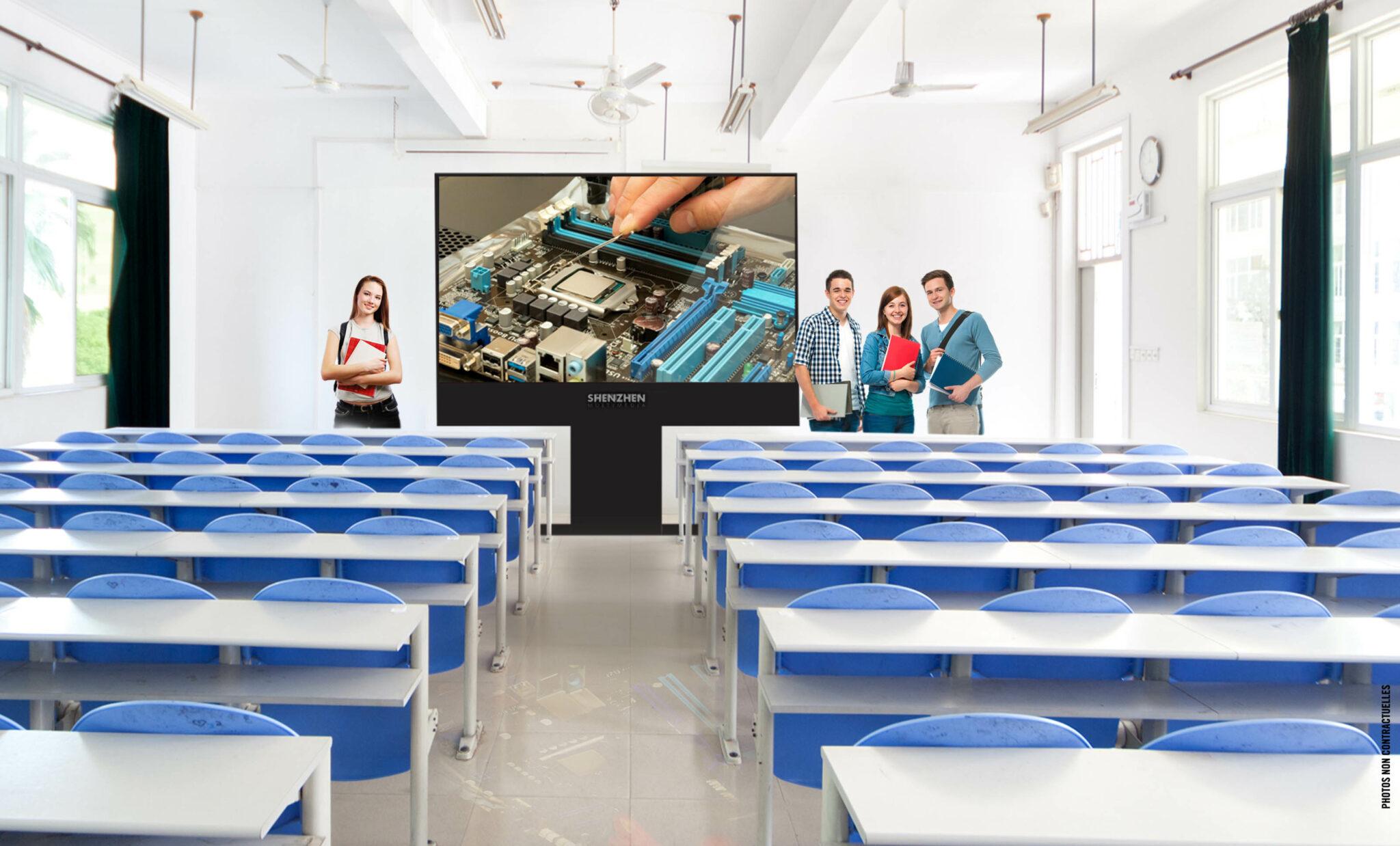 Cet écran d' affichage LED SH 02, design, extra slim et élégant permet une qualité ultra haute définition.
