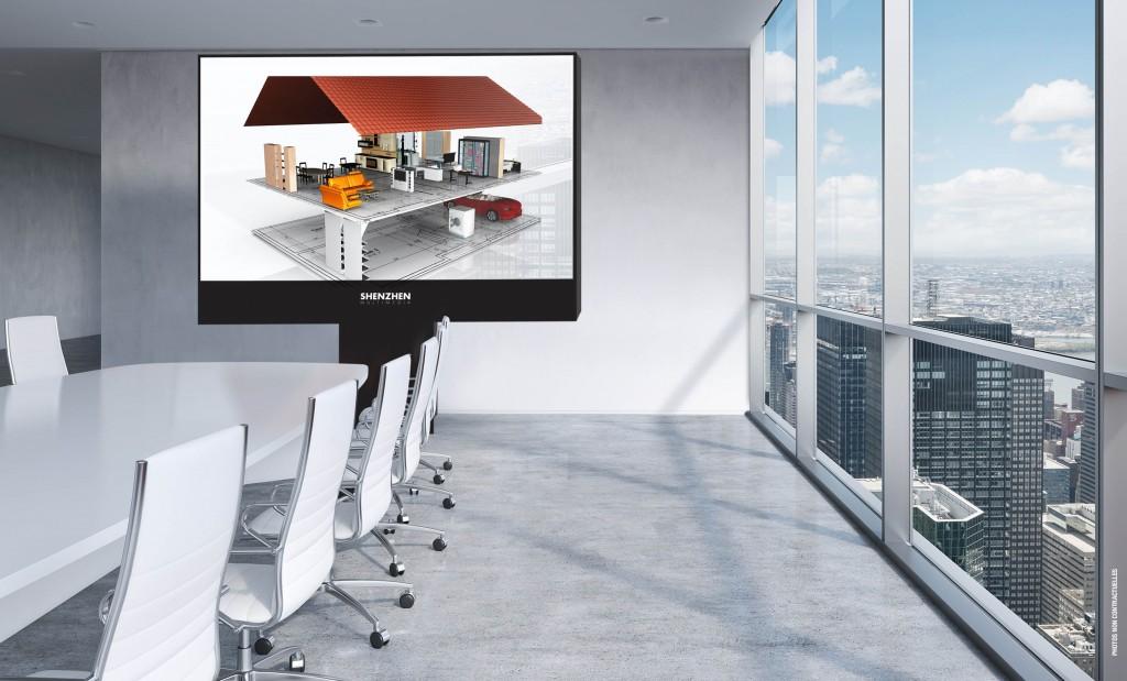 L'écran d'affichage digital LED SMD SH-03 est utile pour les réunions et les meeting de part sa surprenante qualité de définition.Secteur de l'immobilier écrans géants à LED et signalétique