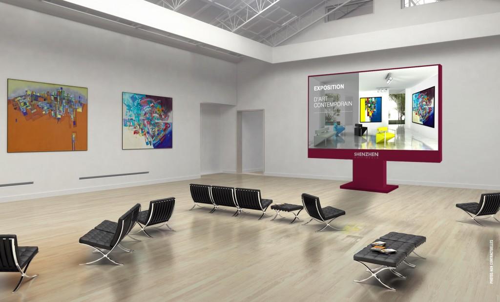 Notre SH-03, à la taille et la qualité d'image parfait pour s'intégrer dans vos musées. écrans géants pour musées, Loisirs & Sites Touristiques
