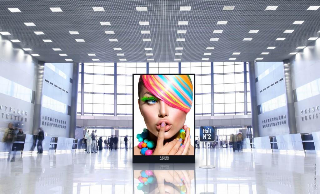 écran affichage dynamique extra slim pour hall de gare ou aéroport