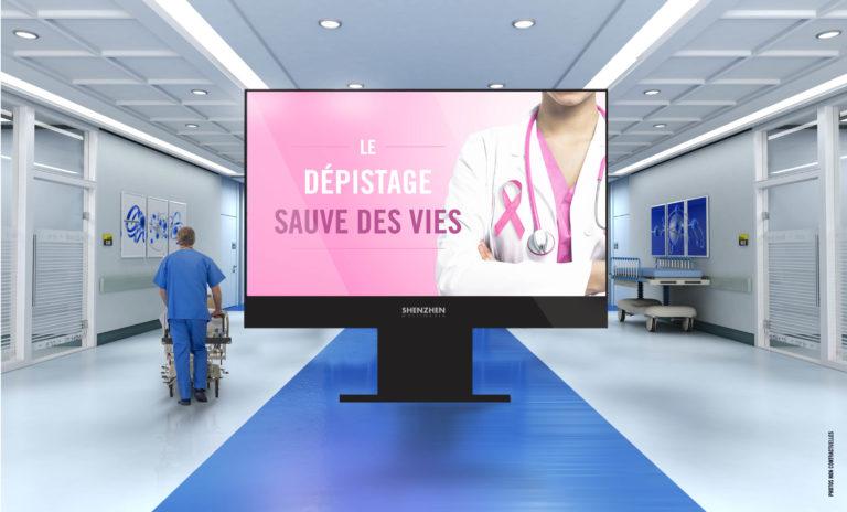 moniteur écran LED affichage dynamique hôpital