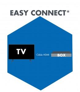 Icône Connexion TV - Box
