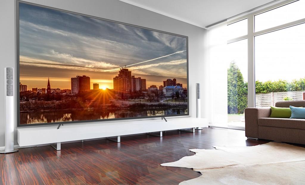 SHM Mise en situation téléviseur SHENZHEN SMD LED TV 130 pouces