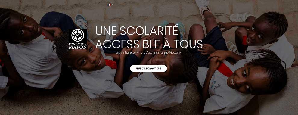 Congo Kinshasa - SHM® équipe la fondation MAPON d'écrans géants
